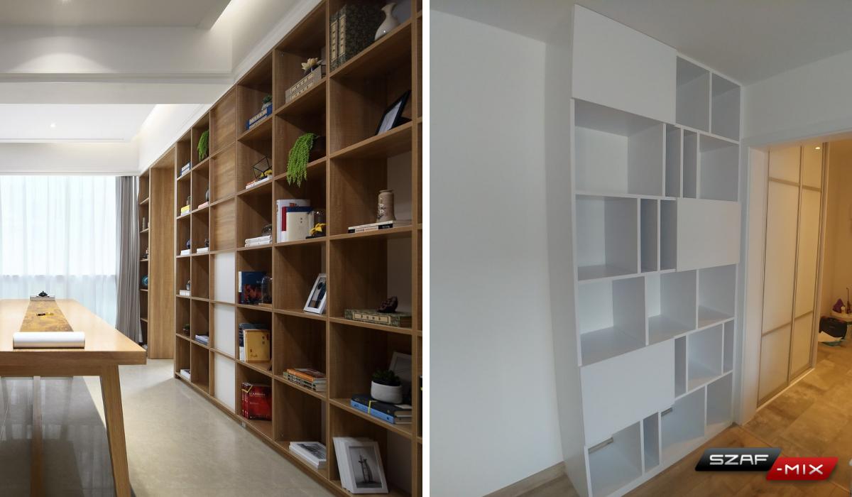 biblioteka na wymiar Warszawa